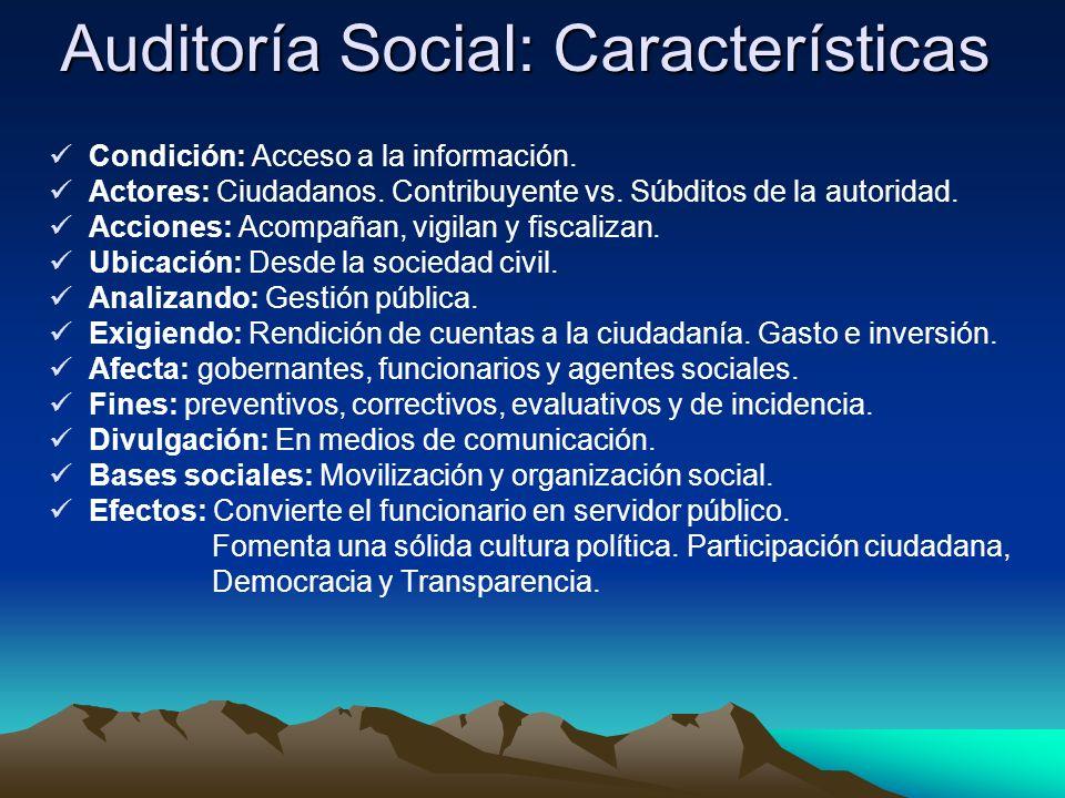 Auditoría Social: Características