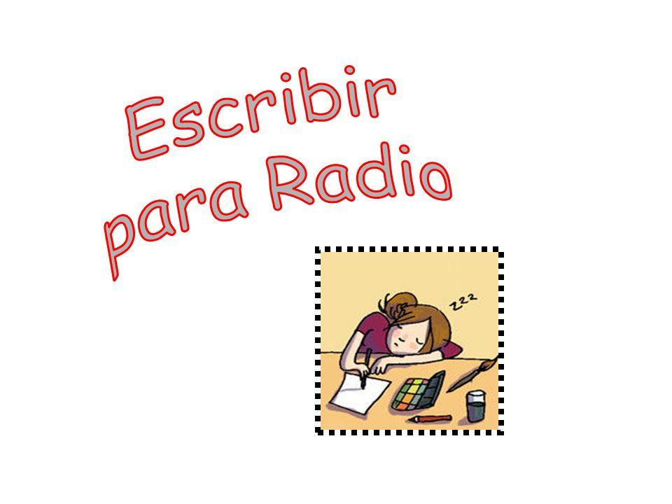 Escribir para Radio
