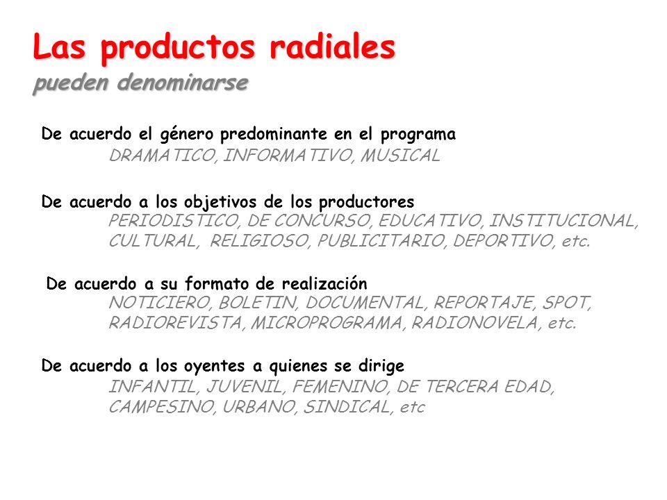 Las productos radiales