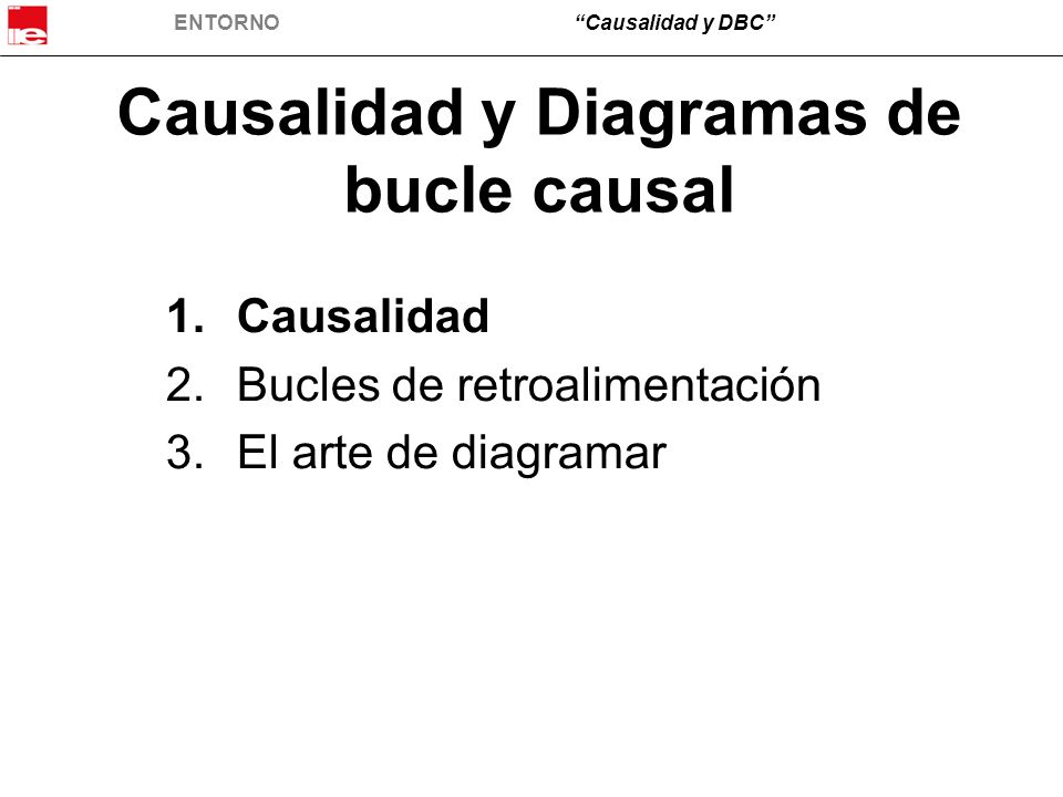 Causalidad y Diagramas de bucle causal