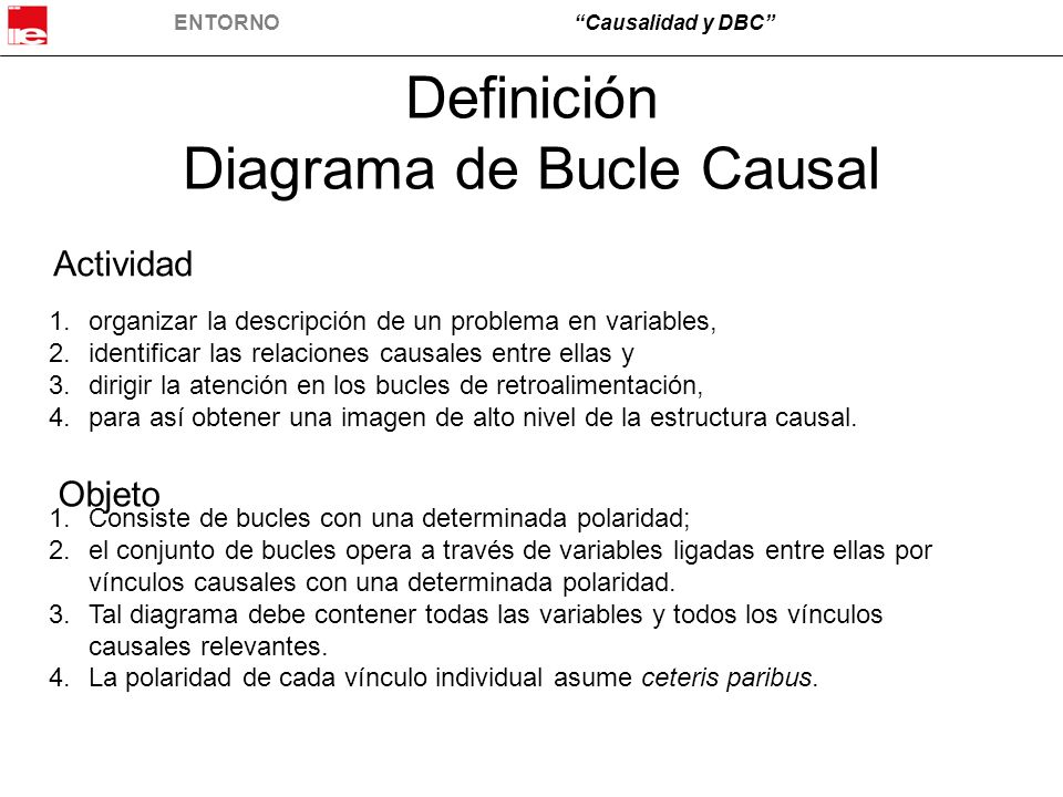 Definición Diagrama de Bucle Causal