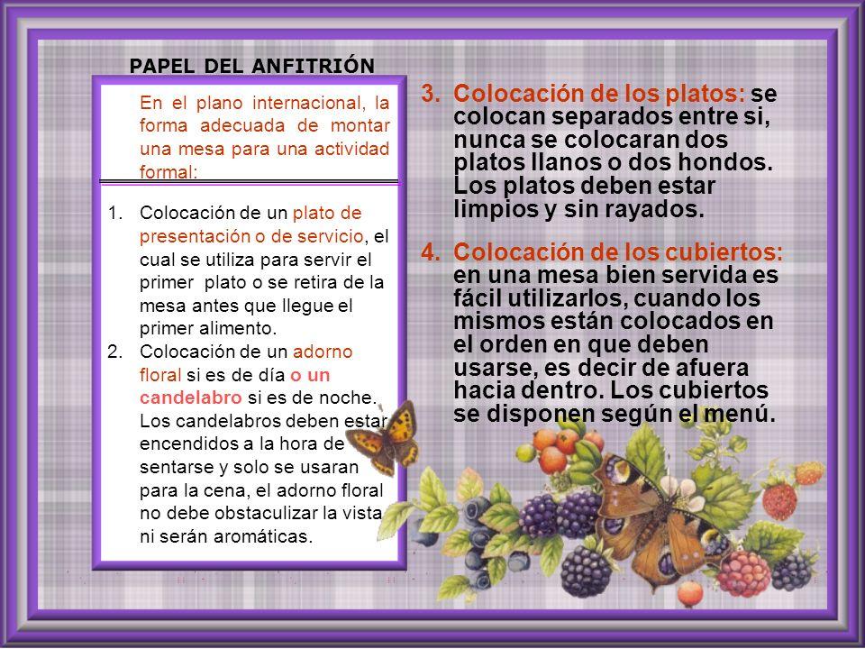 PAPEL DEL ANFITRIÓN