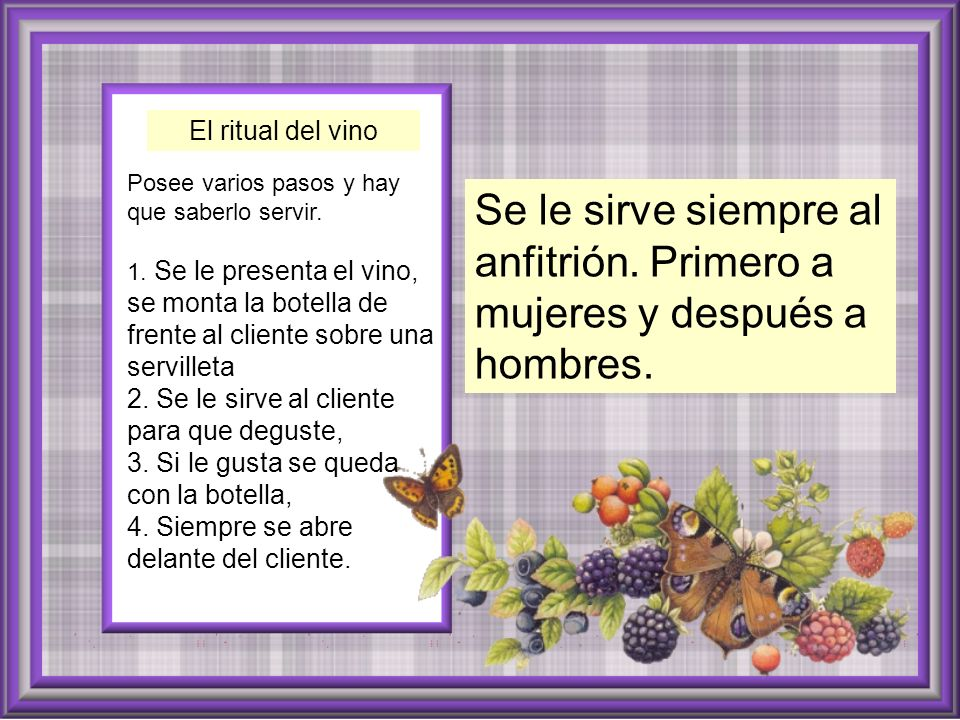 El ritual del vino