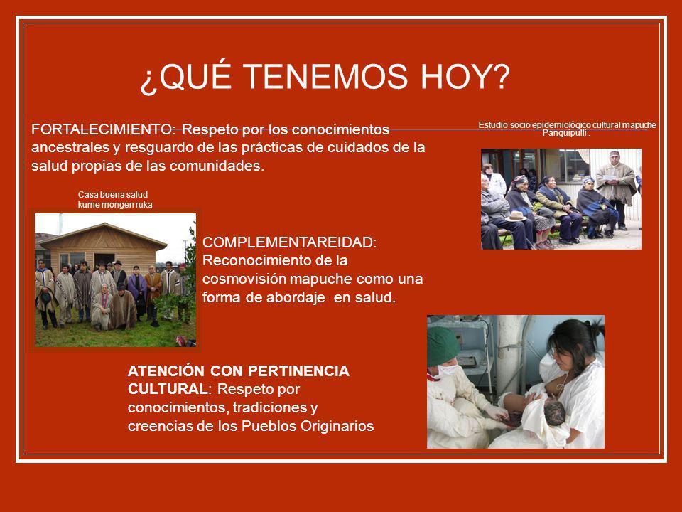 Estudio socio epidemiológico cultural mapuche Panguipulli .