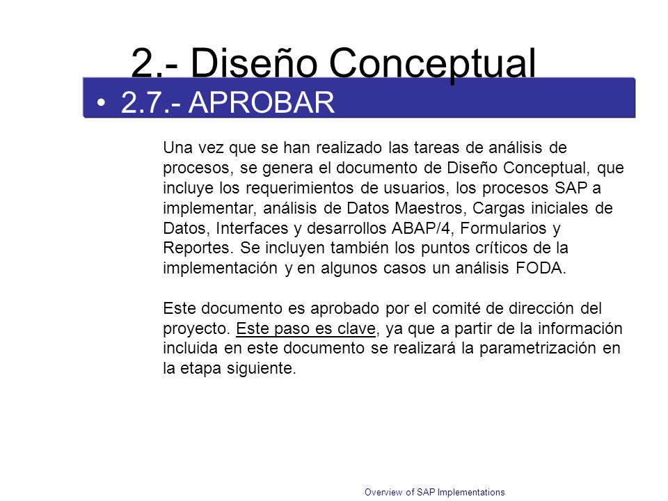 2.- Diseño Conceptual 2.7.- APROBAR