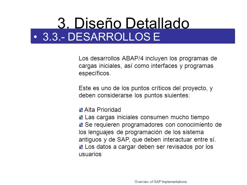 3. Diseño Detallado 3.3.- DESARROLLOS E INTERFACES