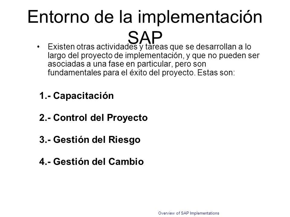 Entorno de la implementación SAP