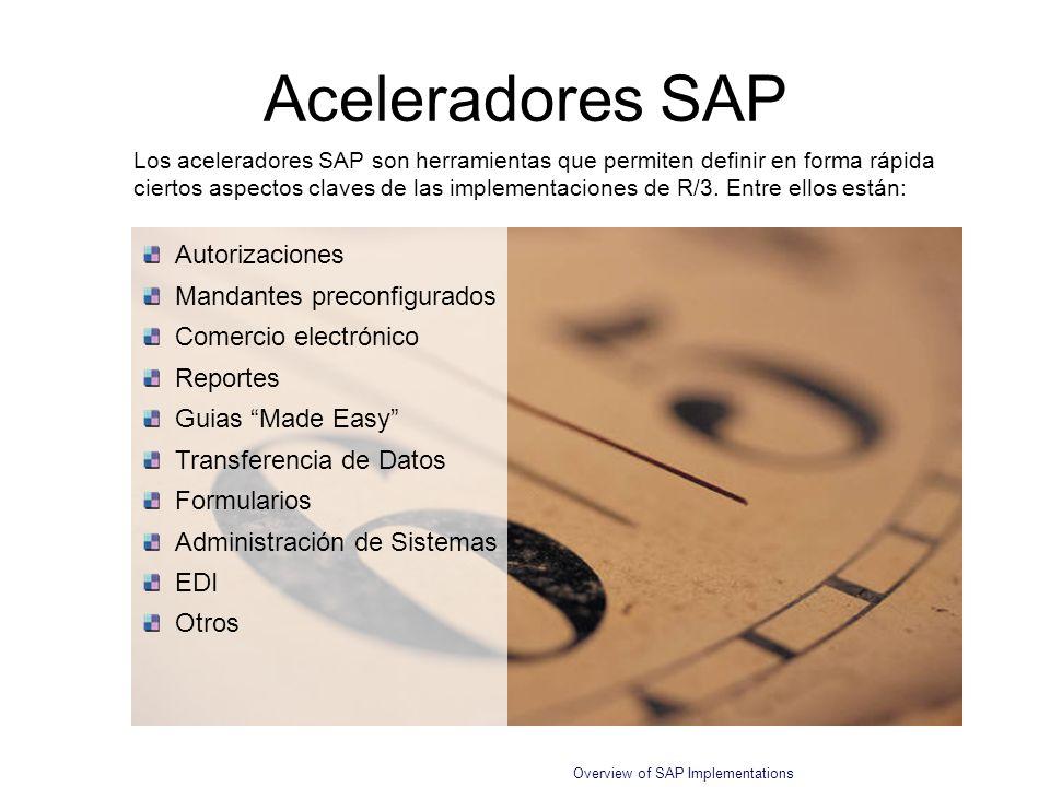 Aceleradores SAP Autorizaciones Mandantes preconfigurados