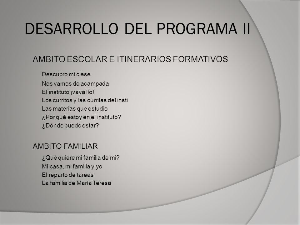 DESARROLLO DEL PROGRAMA II