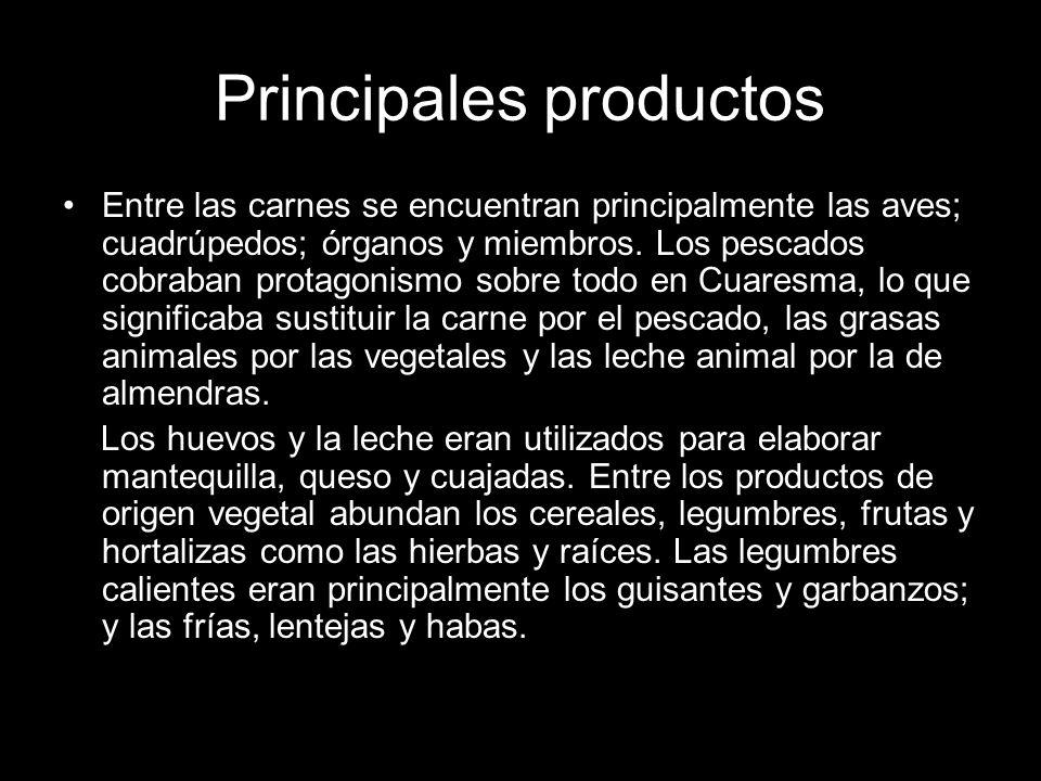 Principales productos