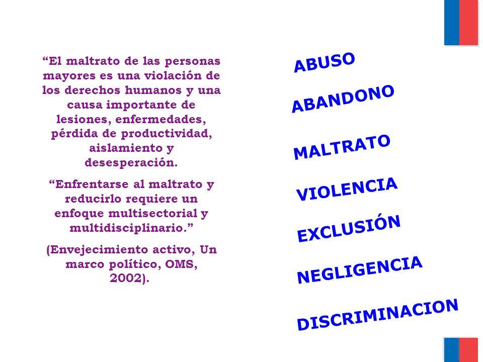 (Envejecimiento activo, Un marco político, OMS, 2002).
