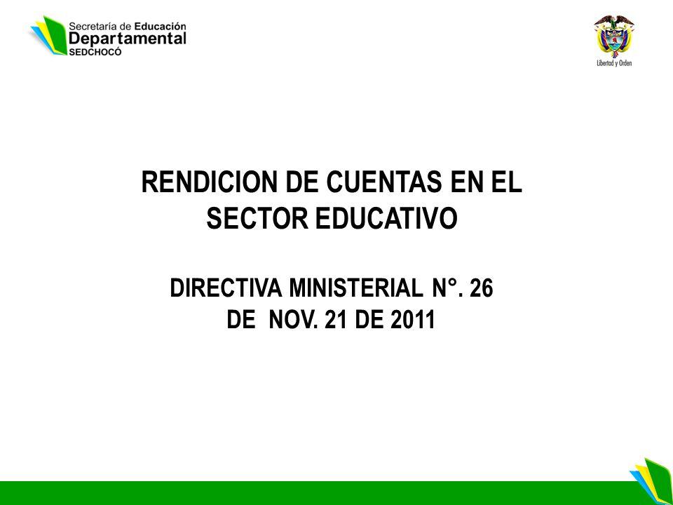 RENDICION DE CUENTAS EN EL SECTOR EDUCATIVO