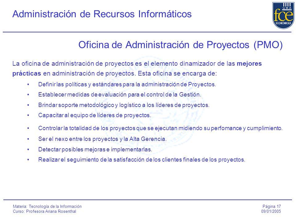 Oficina de Administración de Proyectos (PMO)