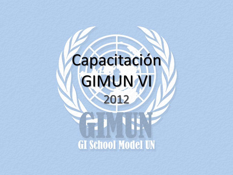 Capacitación GIMUN VI 2012