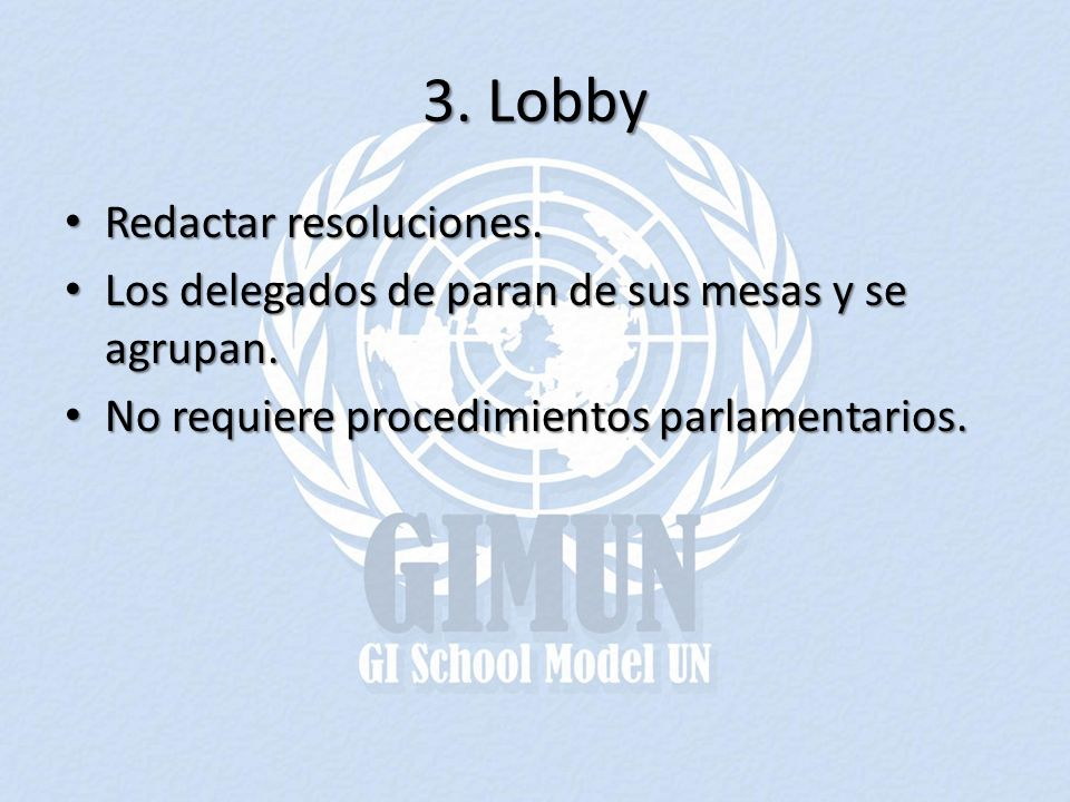 3. Lobby Redactar resoluciones.