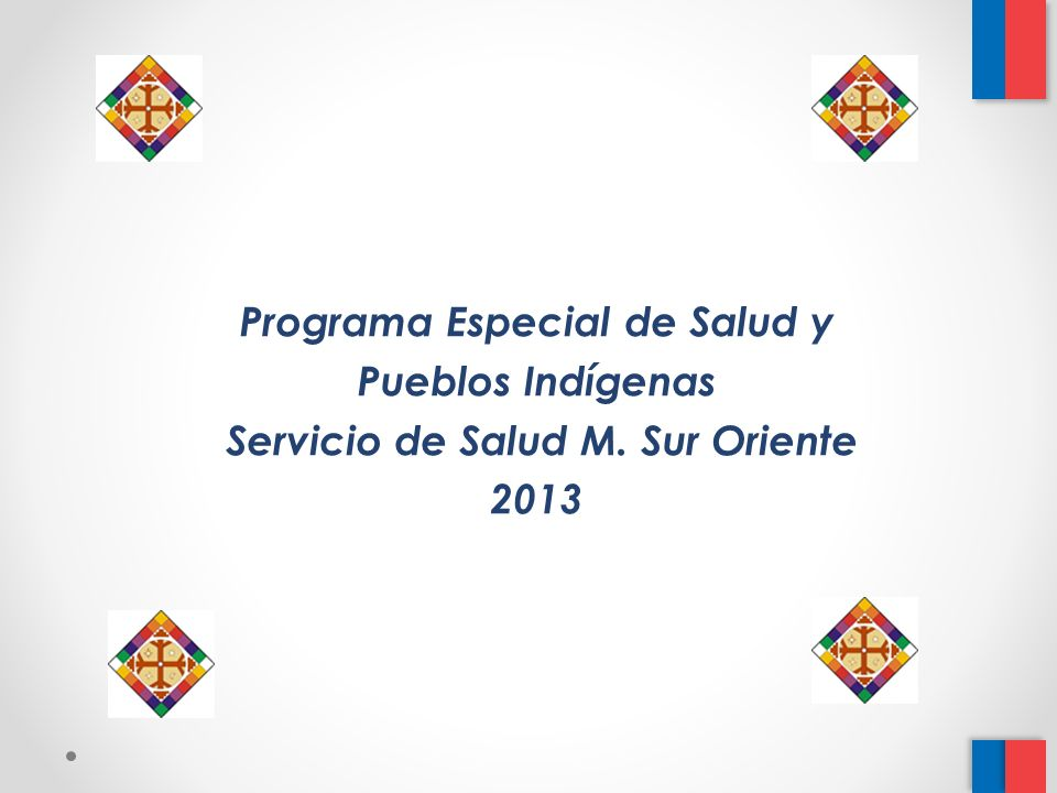 Programa Especial de Salud y Servicio de Salud M. Sur Oriente