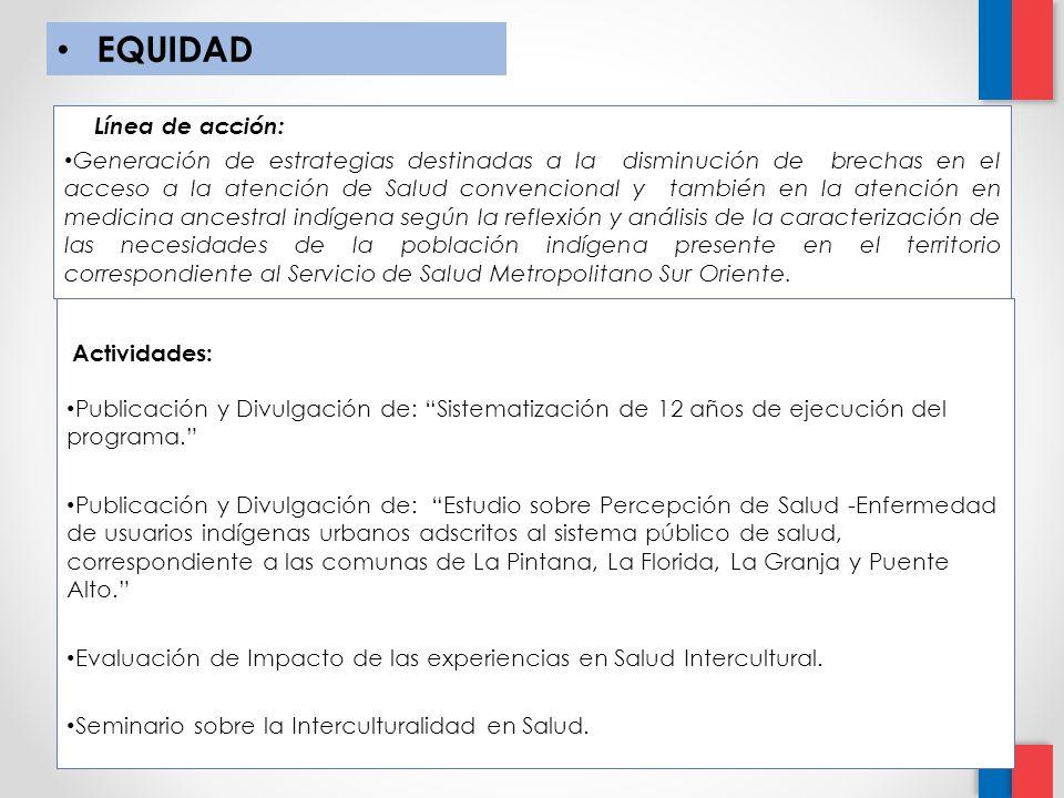 EQUIDAD Línea de acción: