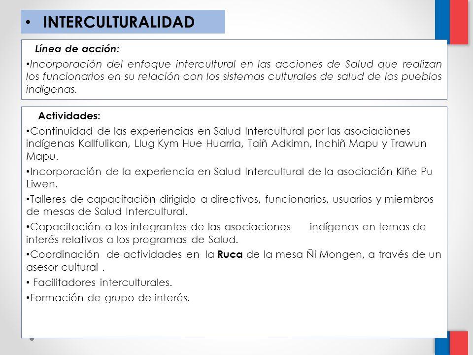 INTERCULTURALIDAD Línea de acción: