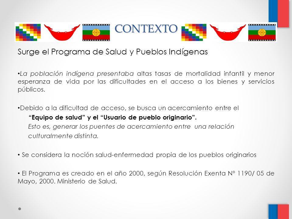 CONTEXTO Surge el Programa de Salud y Pueblos Indígenas