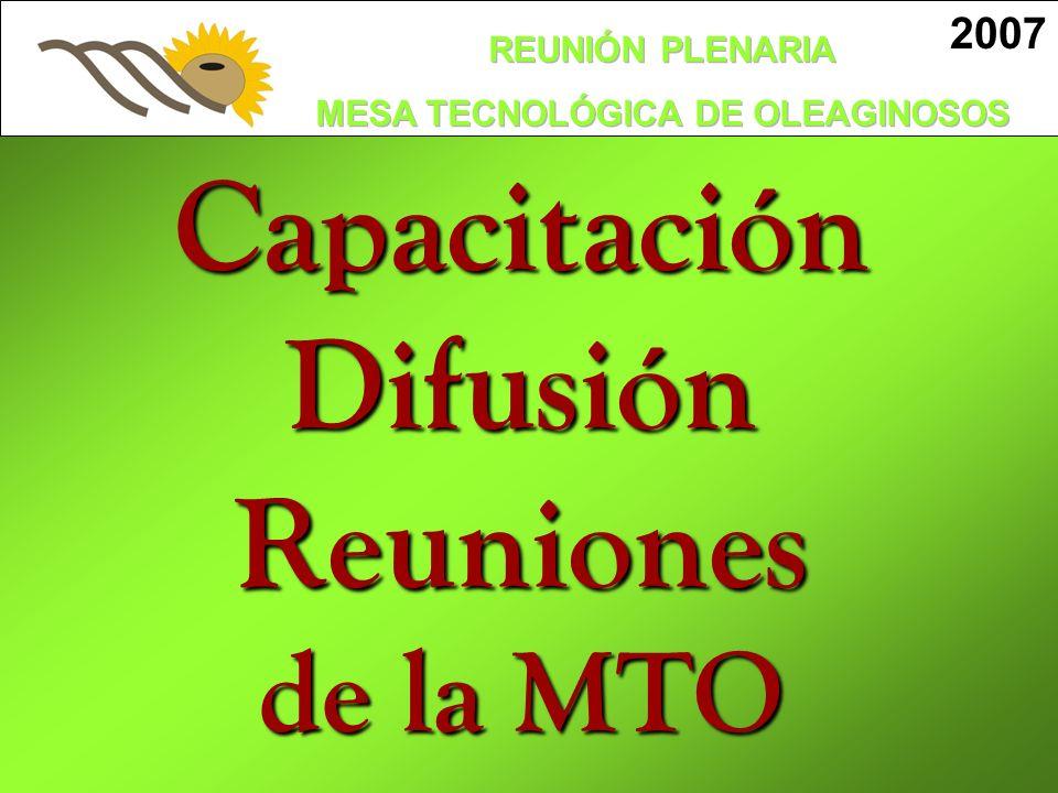 Capacitación Difusión Reuniones de la MTO
