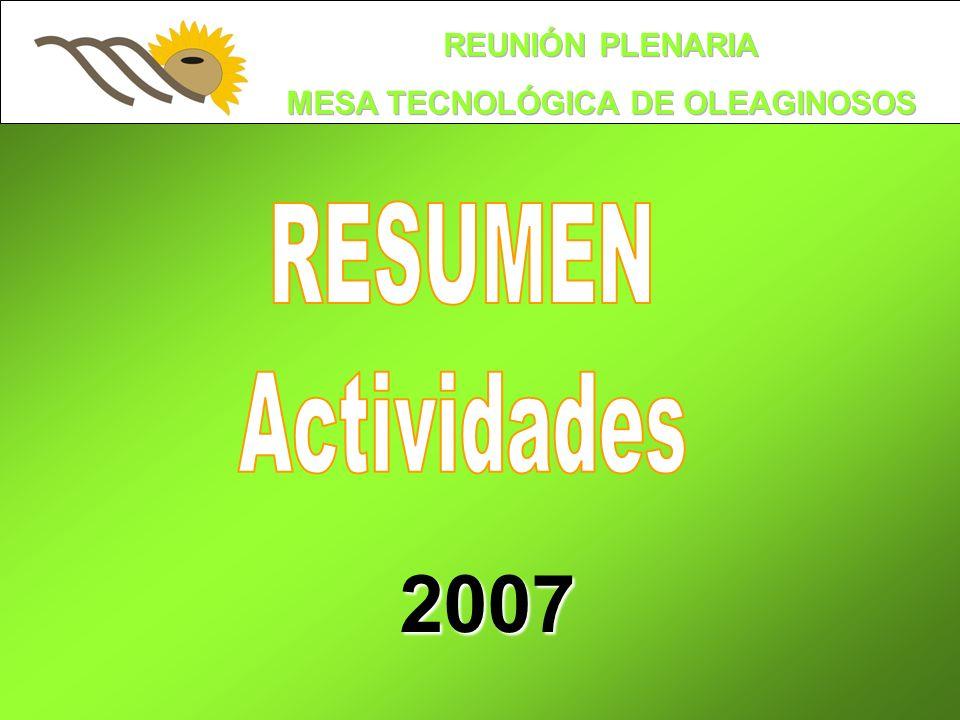 RESUMEN Actividades 2007