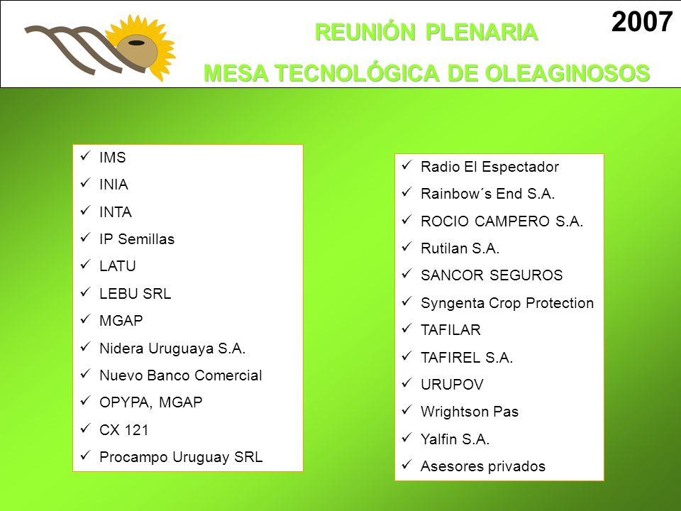 2007 IMS INIA Radio El Espectador Rainbow´s End S.A. INTA