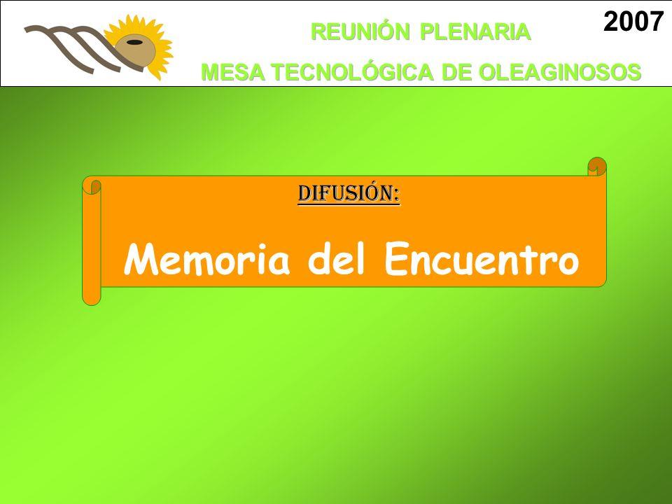 2007 DIFUSIÓN: Memoria del Encuentro