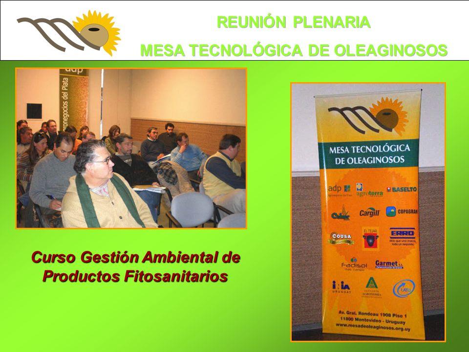 Curso Gestión Ambiental de Productos Fitosanitarios
