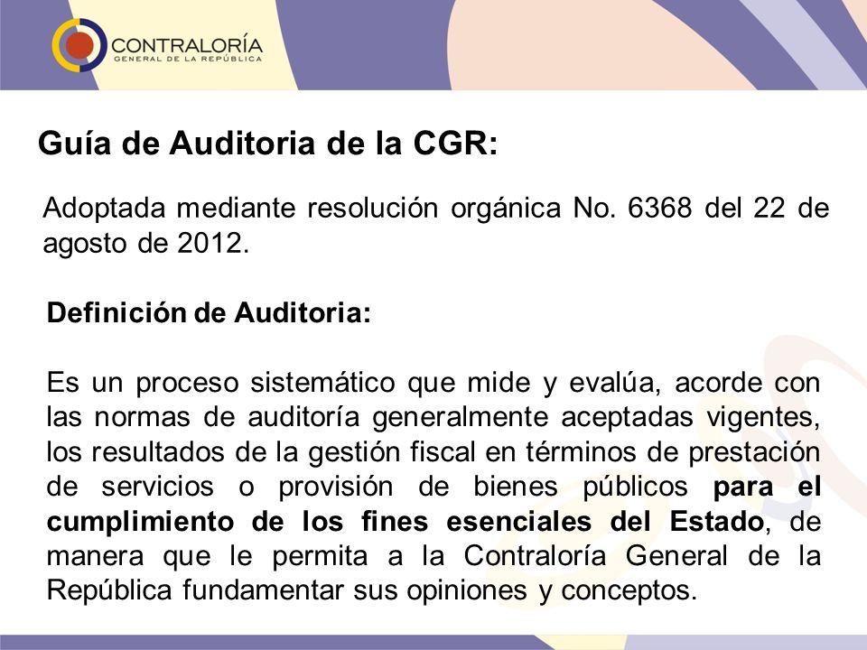 Guía de Auditoria de la CGR: