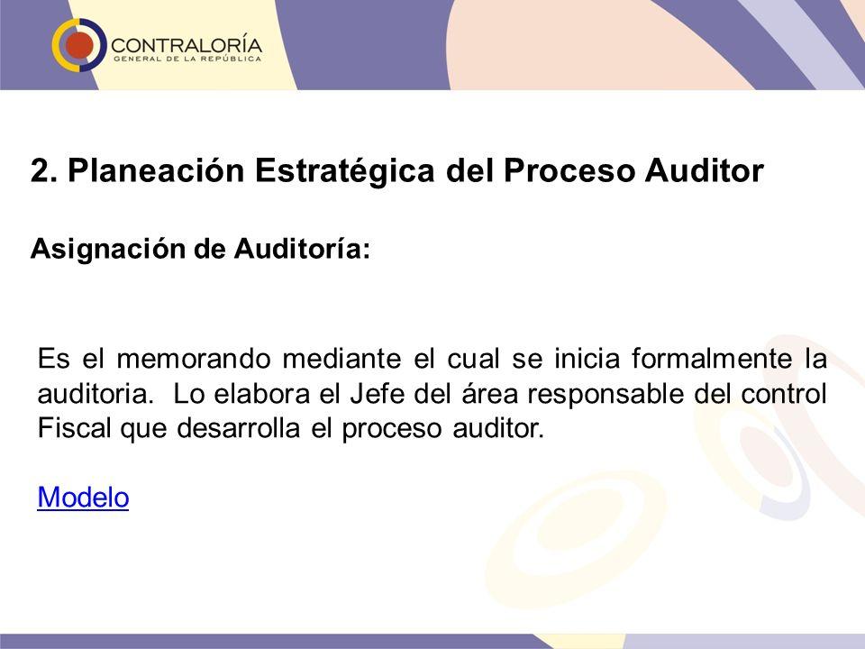 2. Planeación Estratégica del Proceso Auditor