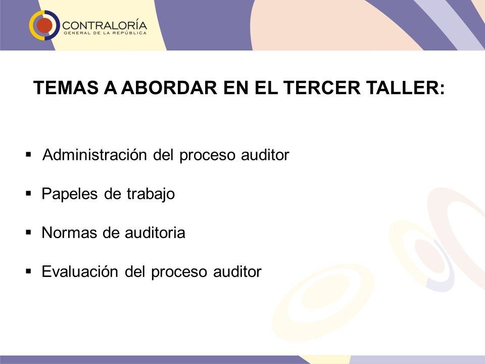 TEMAS A ABORDAR EN EL TERCER TALLER: