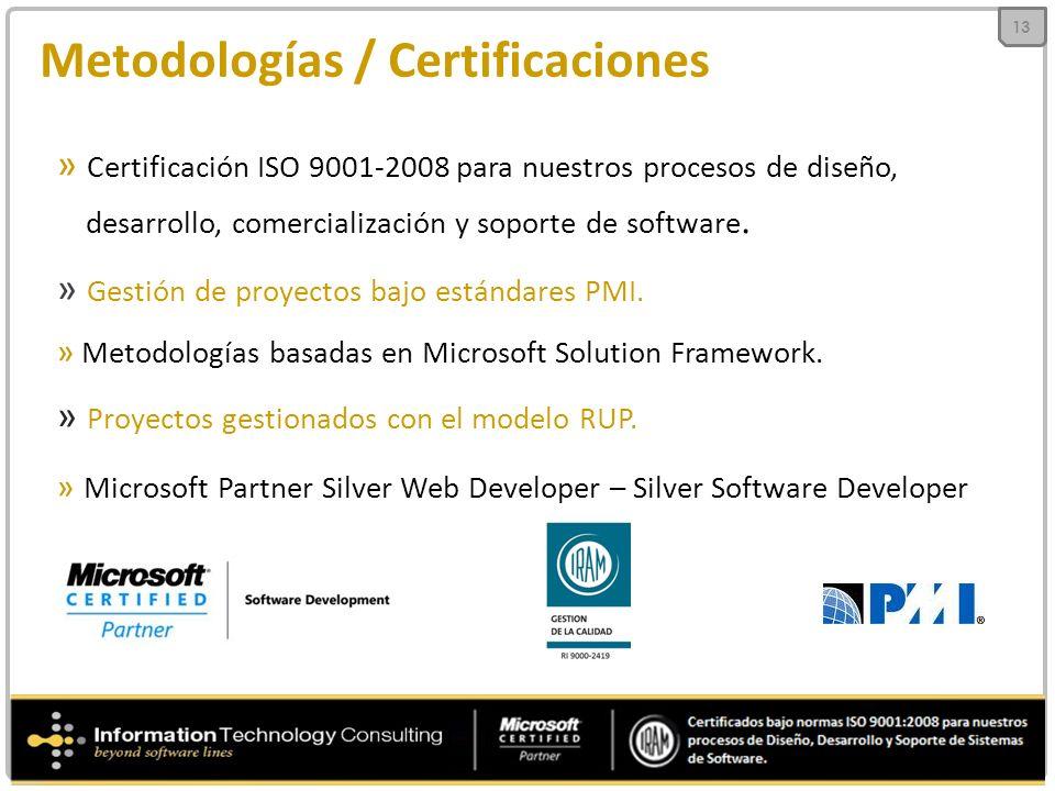 Metodologías / Certificaciones