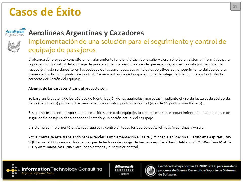 Casos de Éxito Aerolíneas Argentinas y Cazadores