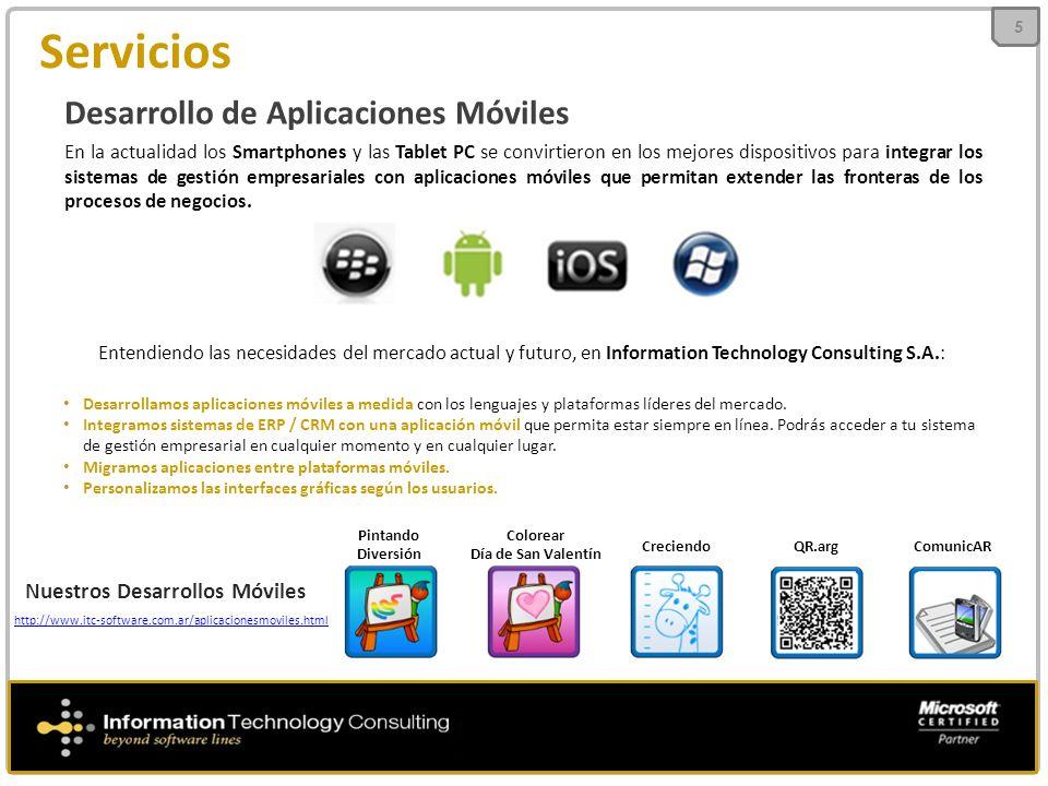 Servicios Desarrollo de Aplicaciones Móviles