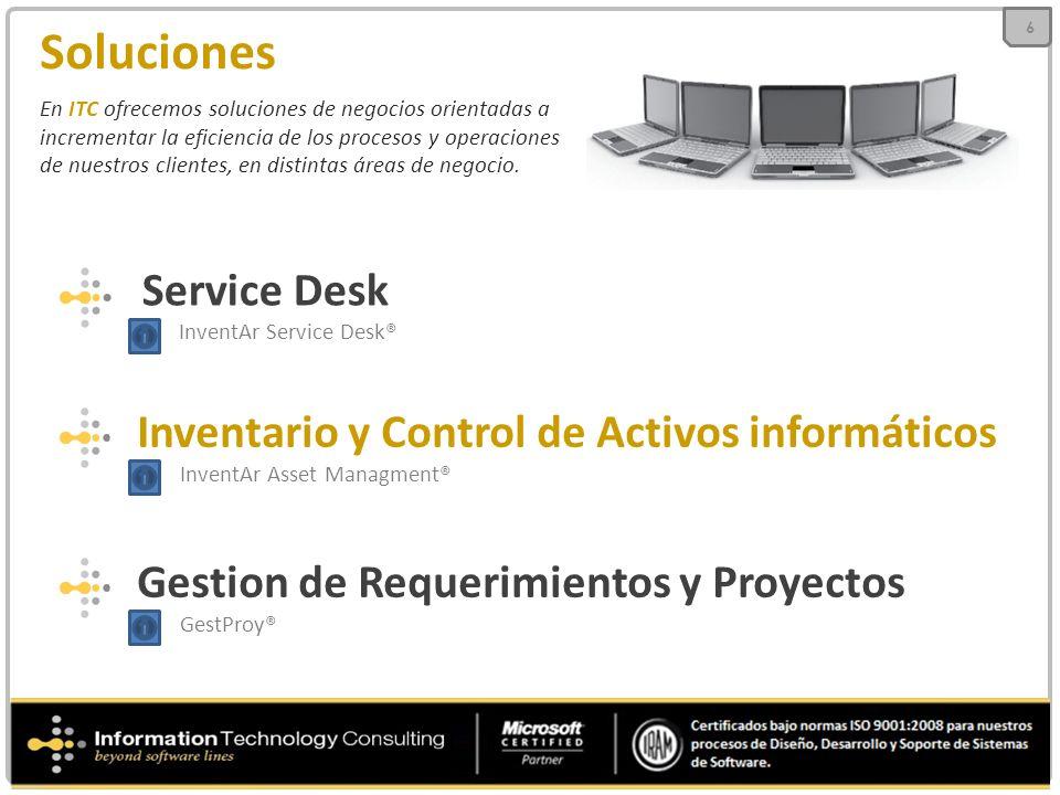 Soluciones Service Desk InventAr Service Desk®
