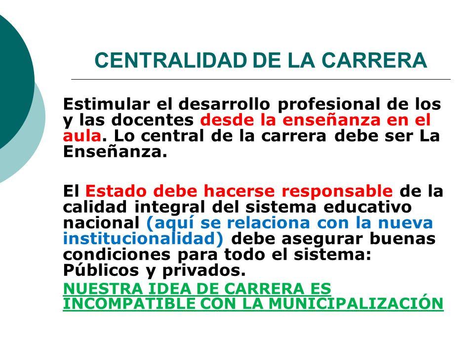 CENTRALIDAD DE LA CARRERA