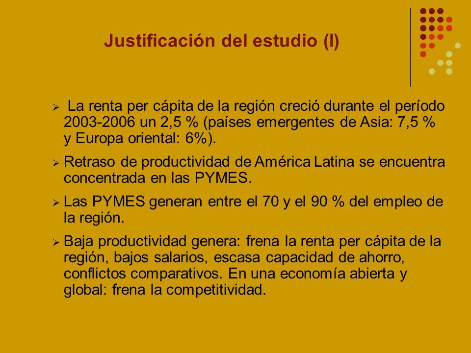 Justificación del estudio (I)