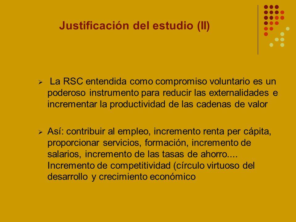 Justificación del estudio (II)