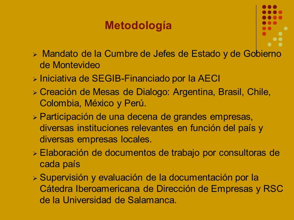 Metodología Mandato de la Cumbre de Jefes de Estado y de Gobierno de Montevideo. Iniciativa de SEGIB-Financiado por la AECI.