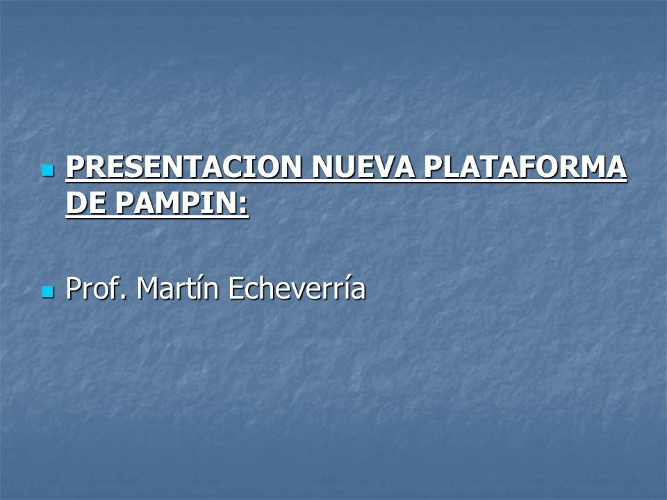 PRESENTACION NUEVA PLATAFORMA DE PAMPIN: