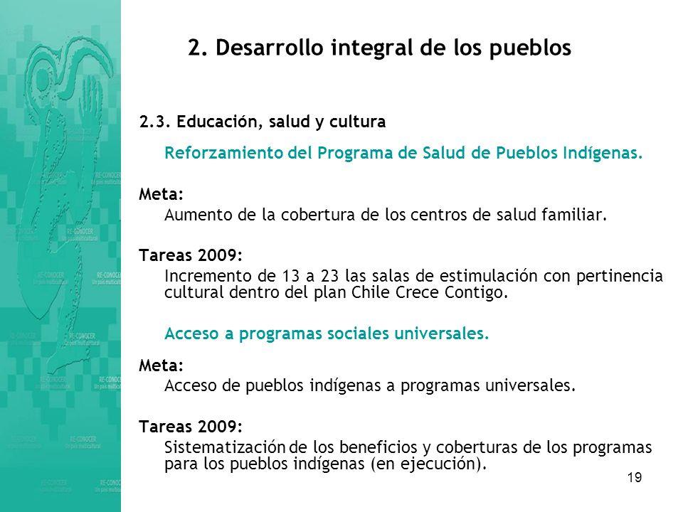 2. Desarrollo integral de los pueblos