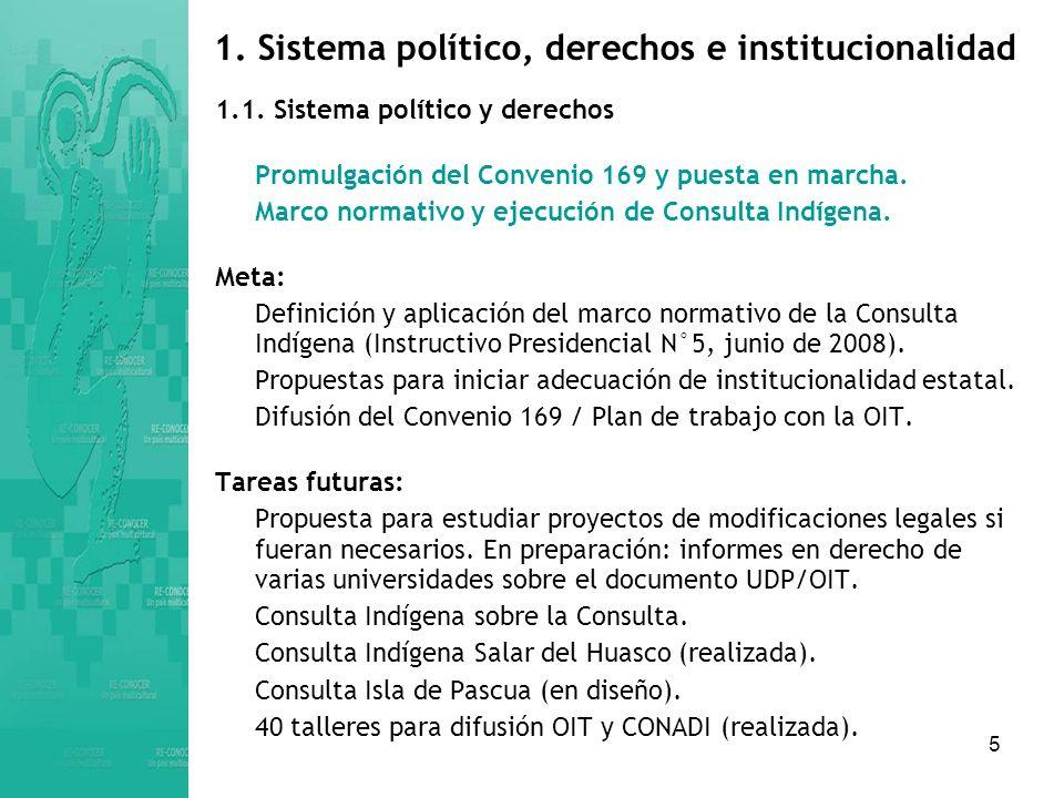 1. Sistema político, derechos e institucionalidad