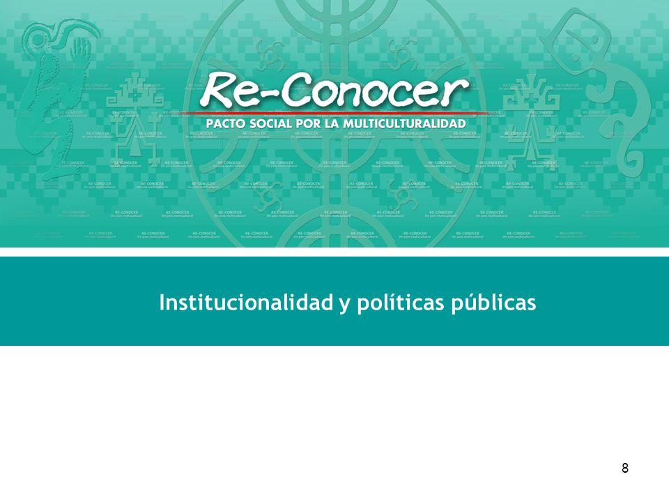 Institucionalidad y políticas públicas