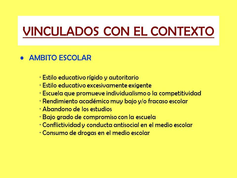 VINCULADOS CON EL CONTEXTO