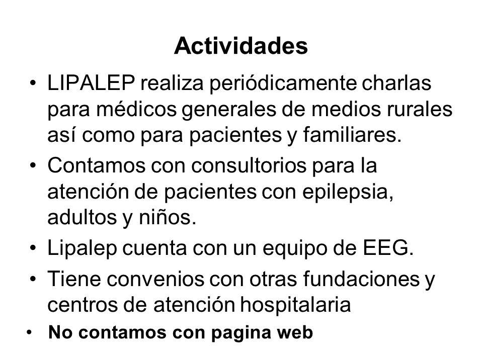 Actividades LIPALEP realiza periódicamente charlas para médicos generales de medios rurales así como para pacientes y familiares.