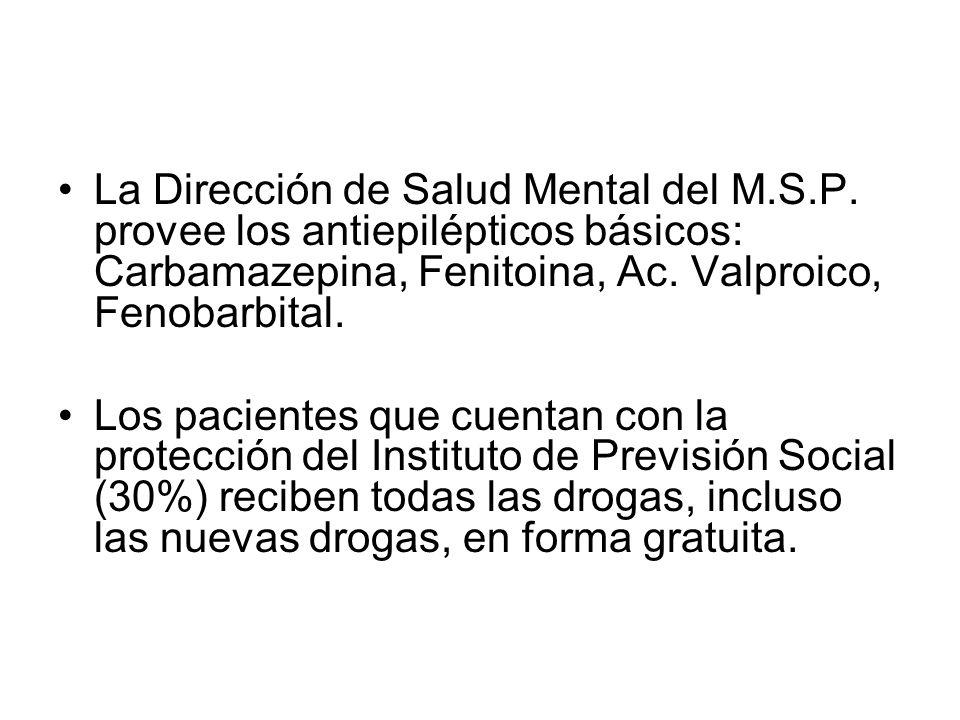 La Dirección de Salud Mental del M. S. P