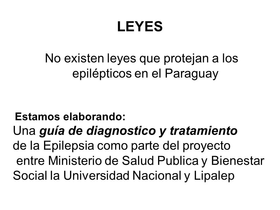 No existen leyes que protejan a los epilépticos en el Paraguay