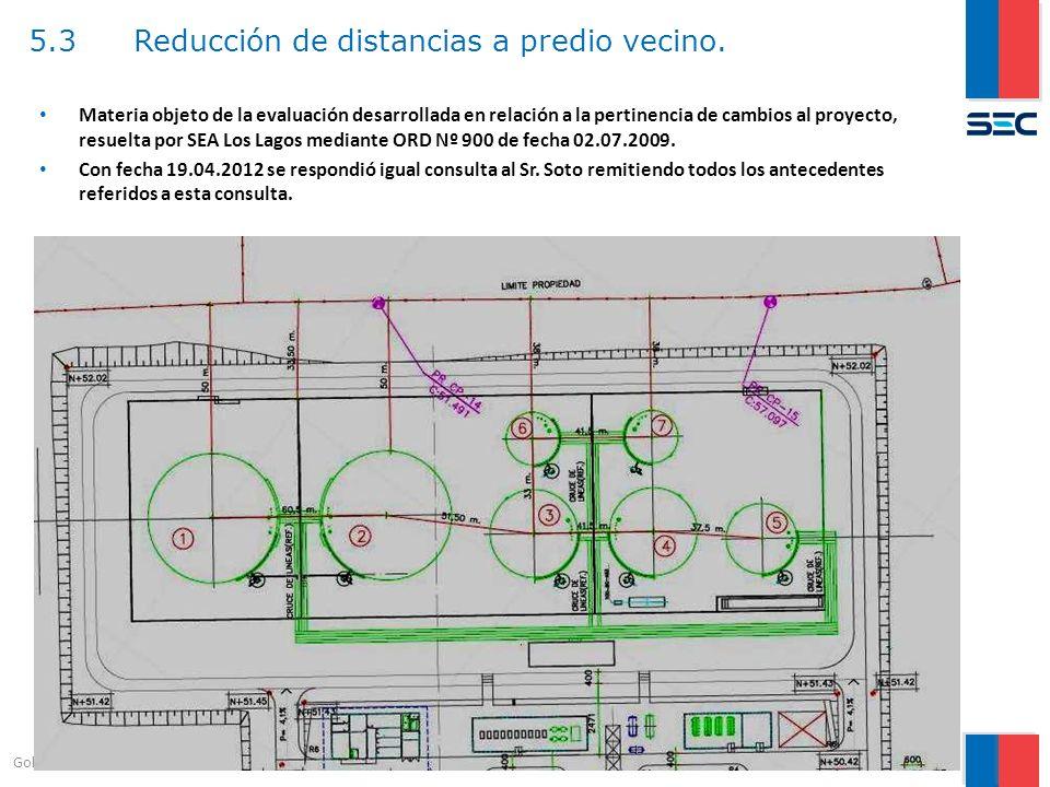 5.3 Reducción de distancias a predio vecino.