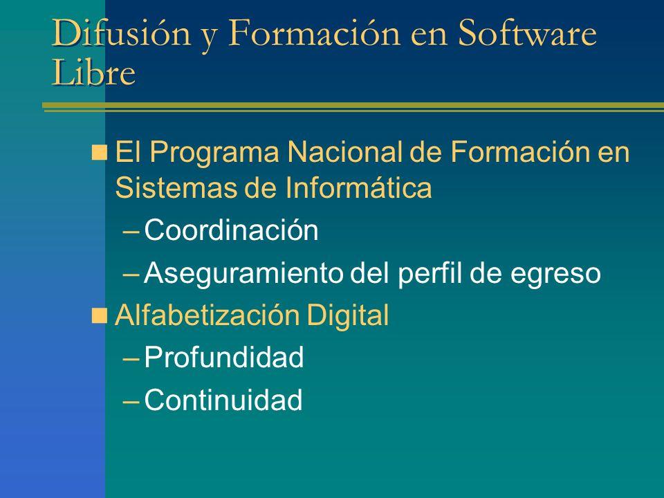 Difusión y Formación en Software Libre
