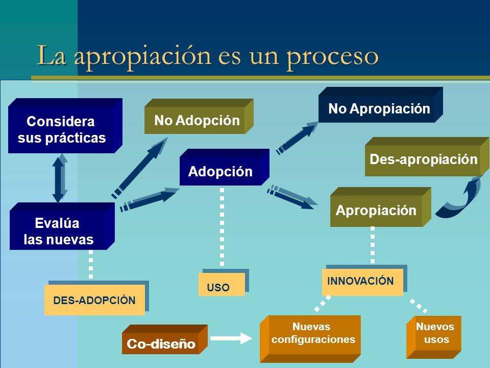 La apropiación es un proceso